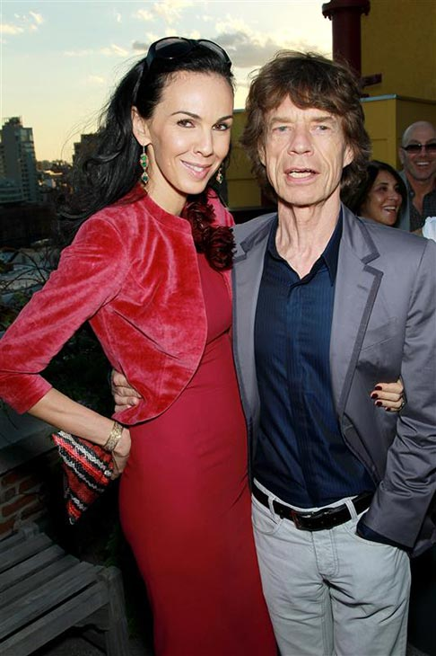 "<div class=""meta image-caption""><div class=""origin-logo origin-image ""><span></span></div><span class=""caption-text"">L'Wren Scott appears with partner Mick Jagger at the Dr. David Colbert RX Haiti Benefit, which they hosted, in New York on May 6, 2010. (Marion Curtis / Startraksphoto.com)</span></div>"