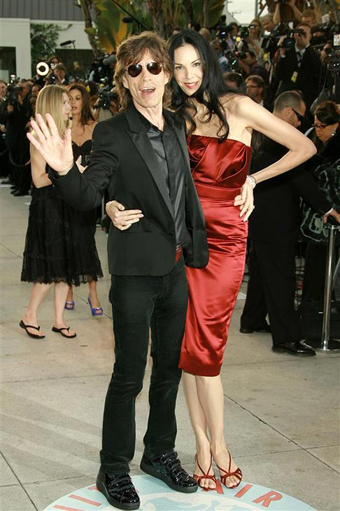 L&#39;Wren Scott appears with partner Mick Jagger at Vanity Fair&#39;s 2006 Oscars after party at Morton&#39;s in New York on March 5, 2006. <span class=meta>(Bill Davila &#47; Startraksphoto.com)</span>