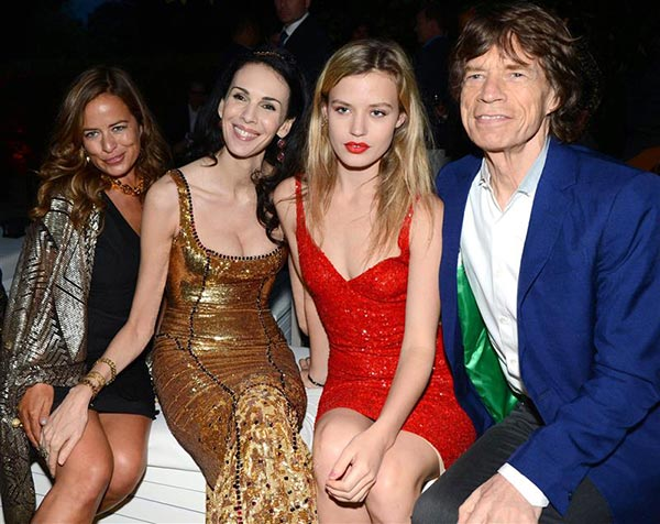 L&#39;Wren Scott appears with Mick Jagger and daughters Jade Jagger &#40;left&#41; and Georgia May Jagger &#40;right&#41; at the 2013 Serpentine Summer Party at the Serpentine Pavillion in London on June 26, 2013. <span class=meta>(Richard Young &#47; Rex &#47; Startraksphoto.com)</span>