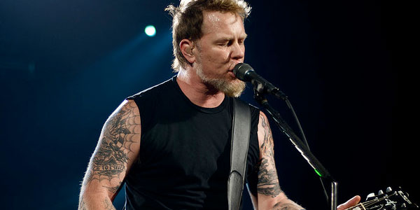 James Hetfield of the band Metallica appears in a photo performing in January 2009.