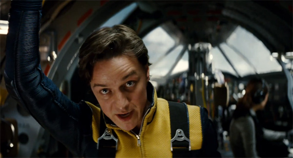 James McAvoy, who plays Professor Charles Xavier, appears in a scene from 'X-Men: First Class.'