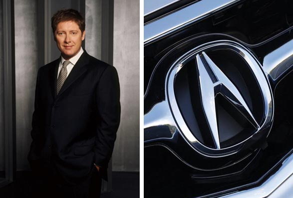 James Spader in a promotional still for the hit-TV show, 'Boston Legal.'/Spader did voice-overs for Acura TV-commercials from 2008 to 2009.