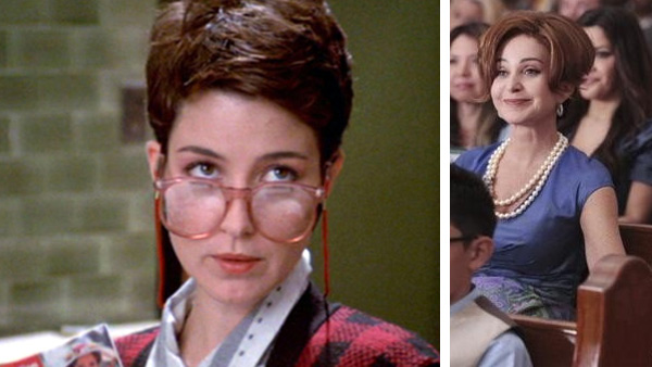 Annie Potts appears as Janine Melnitz in the 1984 film 'Ghostbusters.' / Annie Potts appears in a scene from the ABC series 'Good Christian Belles,' set to debut in 2012.