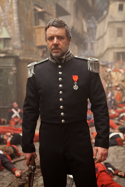Russell Crowe appears as Javert in a scene from...