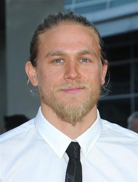 The &#39;Jax-In-A-Tie-I-Just-Die&#39; stare: Charlie Hunnam of the FX series &#39;Sons of Anarchy&#39; attends the premiere of season 3 of the show in Los Angeles on Aug. 30, 2010. <span class=meta>(Sara De Boer &#47; Startraksphoto.com)</span>