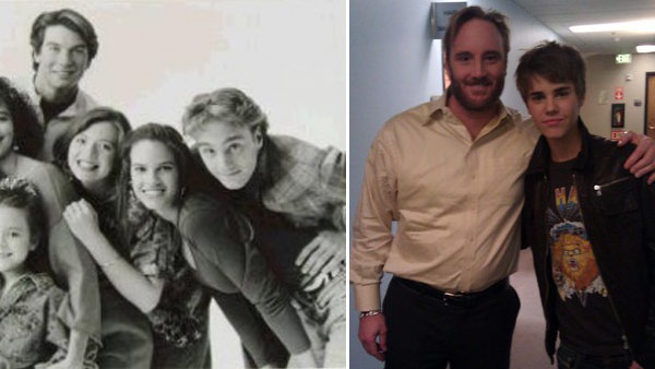 Jay Mohr appears with pop star Justin Bieber in a photo posted on his Twitter page in 2011. / Jay Mohr appears in a television promo for 'Camp Wilder' in the 1990s.