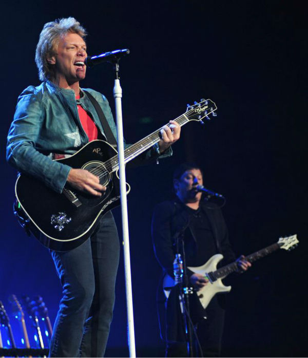 Jon Bon Jovi performs with Bon Jovi in Anaheim, California on Oct. 9, 2013. The band earned the No. 1 spot on Pollstar's list of top-grossing tours of 2013.