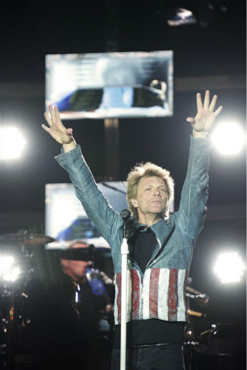 Jon Bon Jovi performs with Bon Jovi in Madrid, Spain on June 27, 2013. The band earned the No. 1 spot on Pollstar&#39;s list of top-grossing tours of 2013. <span class=meta>(Alfaqui &#47; Startraksphoto.com)</span>