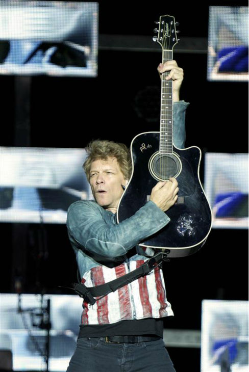 Jon Bon Jovi performs with Bon Jovi in Cologne, Germany on June 22, 2013. The band earned the No. 1 spot on Pollstar&#39;s list of top-grossing tours of 2013. <span class=meta>(ACTION PRESS &#47; Startraksphoto.com)</span>