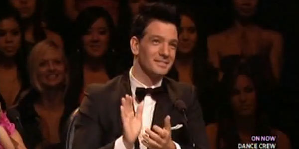 JC Chasez appears in a scene from the show...