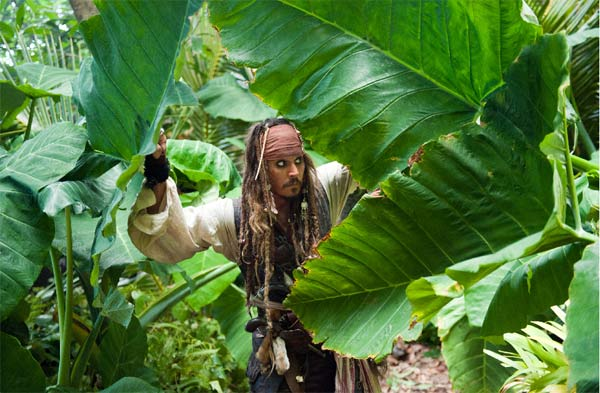 Captain Jack Sparrow (Johnny Depp) in 'Pirates of the Caribbean: On Stranger Tides.'