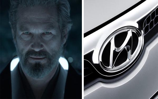 Jeff Bridges in a scene from 'Tron: Legacy.'/Bridges was the voice behind many Hyundai commercials.