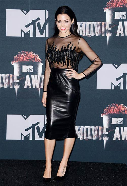 Actress Jenna Dewan-Tatum, wife of Channing Tatum, appears backstage at the 2014 MTV Movie Awards at the Nokia Theatre in Los Angeles on April 13, 2014. Channing won the Trailblazer award. <span class=meta>(Lionel Hahn &#47; AbacaUSA &#47; Startraksphoto.com)</span>