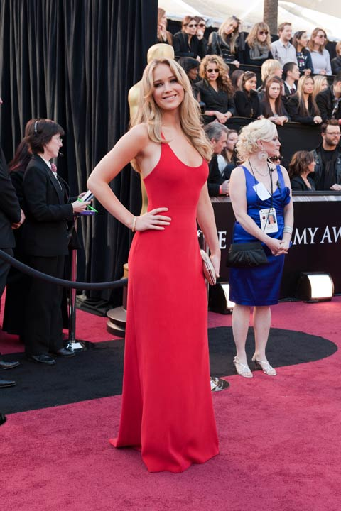 Jennifer Lawrence arrives for the 83rd Annual Academy Awards a