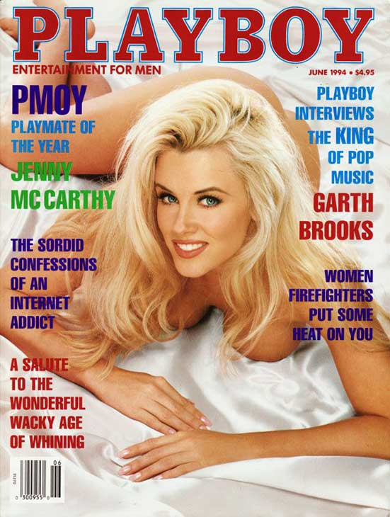 Jenny McCarthy appears on the cover of Playboy...