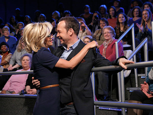"<div class=""meta ""><span class=""caption-text "">Jenny McCarthy, wearing a yellow sapphire engagement ring, embraces fiance Donnie Wahlberg on ABC's 'The View' on April 16, 2014. McCarthy, a co-host on the show, announced their engagement that morning. (ABC Photo / Heidi Gutman)</span></div>"