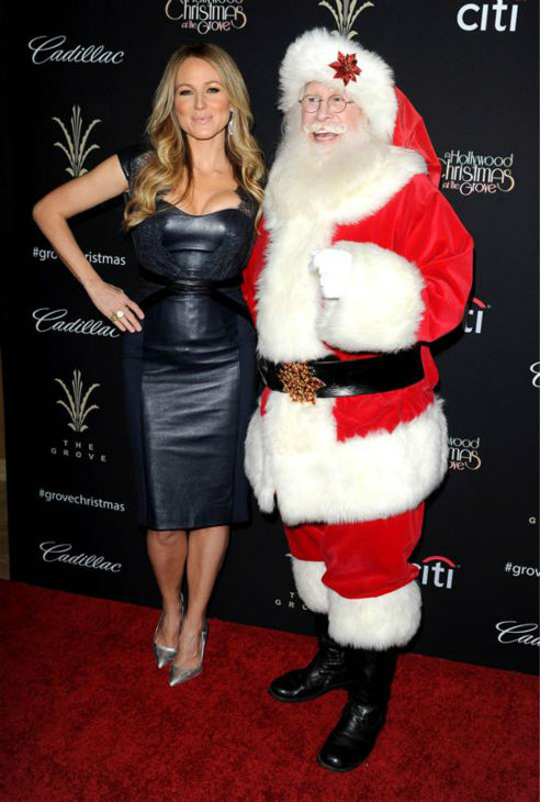 Jewel poses with Santa Claus at the Grove LA&#39;s 2013 Christmas Tree Spectacular event, held at the outdoor shopping mall in Los Angeles on Nov. 17, 2013. <span class=meta>(Daniel Robertson &#47; Startraksphoto.com)</span>