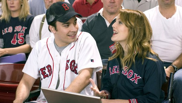 Jimmy Fallon appears alongside Drew Barrymore...