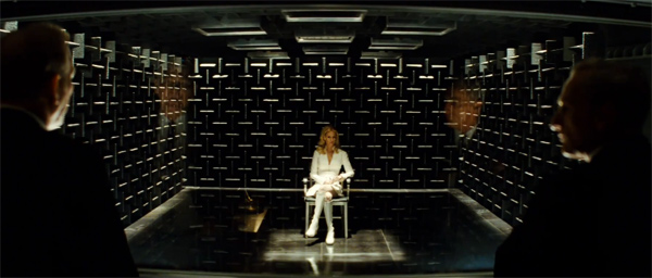 January Jones appears as Emma Frost in a scene from 'X-Men: First Class.'