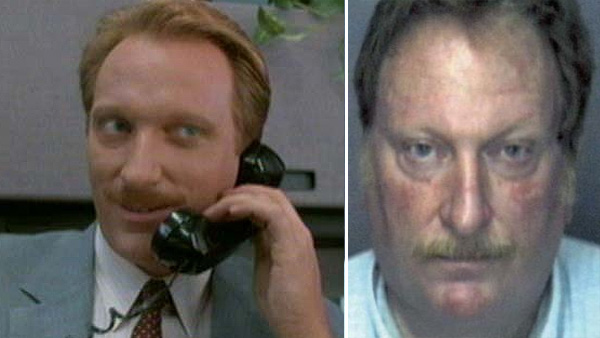 (Pictured: Jeffrey Jones appears in a scene from the 1986 movie 'Ferris Bueller's Day Off.' / Jeffrey Jones appears in a mug shot provided by the Sarasota Police Department in Florida after his 2003 felony arrest charge.)