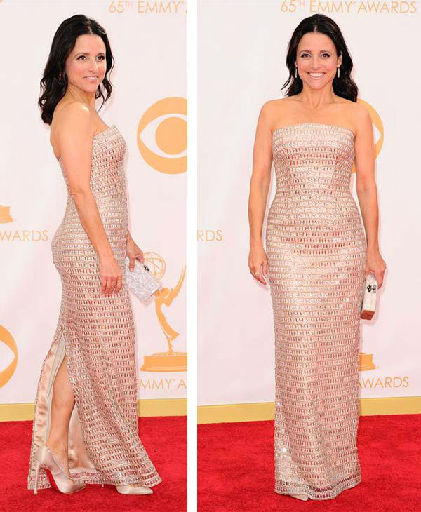 "<div class=""meta ""><span class=""caption-text "">Julia Louis-Dreyfus appears at the 2013 Emmy Awards in Los Angeles on Jan. 13, 2013. She won her second Emmy for her role as Vice President Selina Meyer on the HBO show 'Veep.' She previously won Emmys for her roles on 'Seinfeld' (as Elaine) and 'The New Adventures of Old Christine' (as the main character).</span></div>"