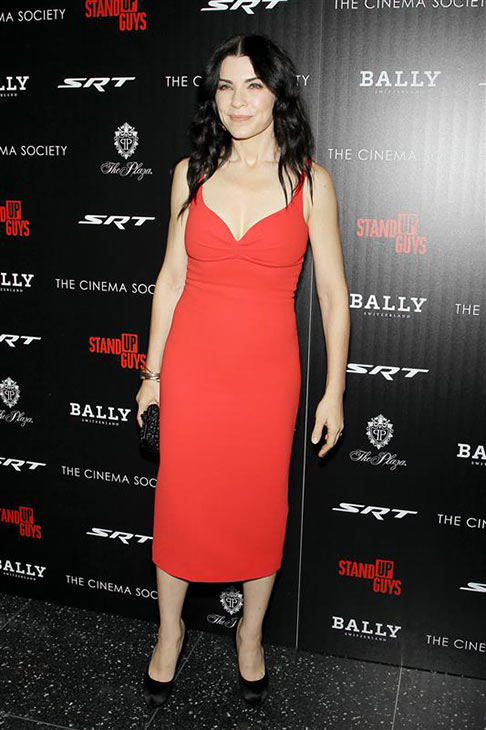 Julianna Margulies of &#39;The Good Wife&#39; wears a red L&#39;Wren Scott dress at a screening of the film &#39;Stand-Up Guys&#39; in New York on Dec. 9, 2012. <span class=meta>(Marion Curtis &#47; Startraksphoto.com)</span>