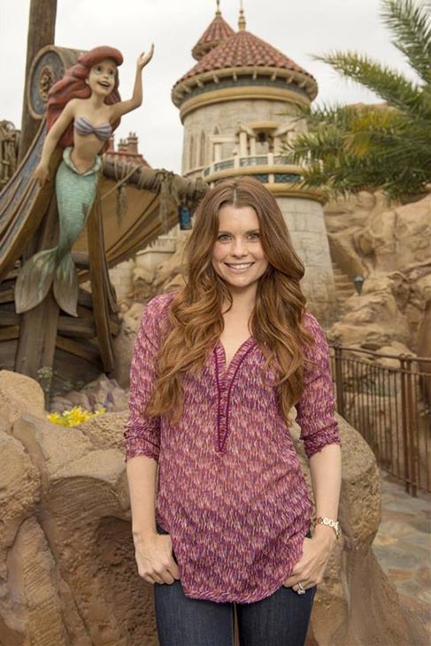 JoAnna Garcia Swisher, who portrays Ariel on the ABC series &#39;Once Upon A Time,&#39; poses in front of the &#39;Under the Sea - Journey of The Little Mermaid&#39; attraction at the Magic Kingdom theme park in Walt Disney World in Lake Buena Vista, Florida on Nov. 15, 2013. <span class=meta>(Kent Phillips &#47; Startraksphoto.com)</span>