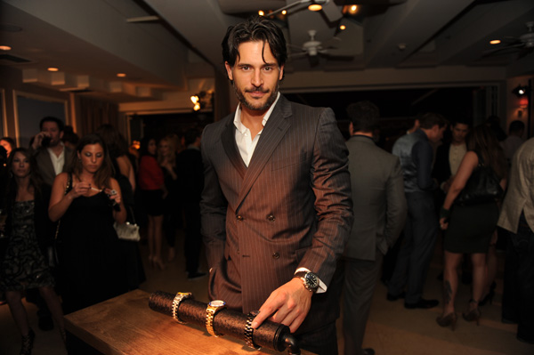 Joe Manganiello from 'True Blood' appears at an intimate cocktail party to celebrate the launch of the Joseph Abboud watch collection at the Sunset Tower Hotel in Los Angeles on Thursday, June 16, 2011.