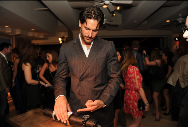 "<div class=""meta ""><span class=""caption-text "">Joe Manganiello from 'True Blood' appears at an intimate cocktail party to celebrate the launch of the Joseph Abboud watch collection at the Sunset Tower Hotel in Los Angeles on Thursday, June 16, 2011. (Seth Browarnik / WorldRedeye.com)</span></div>"