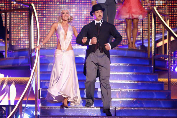 "<div class=""meta image-caption""><div class=""origin-logo origin-image ""><span></span></div><span class=""caption-text"">Former member of the boy band 'N Sync, Joey Fatone and his partner Kym Johnson received 22.5 out of 30 points from the judges for their Quickstep on week two of 'Dancing With The Stars: All-Stars,' which aired on Oc. 1, 2012.  (ABC / Adam Taylor)</span></div>"