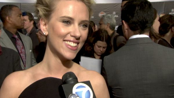 Scarlett Johansson appears at the premiere of 'The Avengers' in Los Angeles on April 11, 2012.