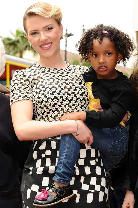 Scarlett Johansson appears with sister Fenan Sloan after receiving a star on the Hollywood Walk of Fame on May 2, 2012. The actress&#39; mother adopted her sister in Ethiopia. <span class=meta>(Sara De Boer &#47; Startraksphoto.com)</span>