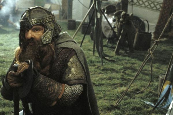 John Rhys-Davies in a scene from the film, 'The Lord of the Rings: The Return of the King.'