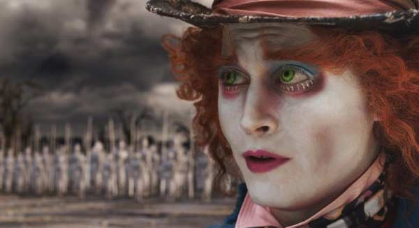 Actor Johnny Depp appears in a scene from the 2010 film 'Alice in Wonderland' where he plays the Mad Hatter.