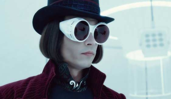 Johnny Depp appears in a scene from the 2005 film 'Charlie and the Chocolate Factory,' where he plays Willy Wonka in the classic remake.