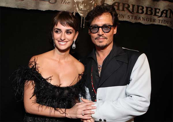 Actor Johnny Depp and Penelope Cruz appear in a...