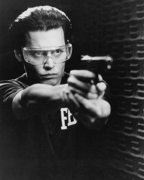 Actor Johnny Depp appears in a scene from the 1997 film &#39;Donnie Brasco,&#39; where he plays an undercover FBI agent who infiltrates the mafia. <span class=meta>(Mandalay Entertainment)</span>