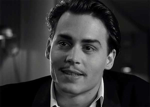 Actor Johnny Depp appears in a scene from the 1994 Oscar Award winning film 'Ed Wood,' where he depicts a legendary director of awful movies and his strange group of friends.