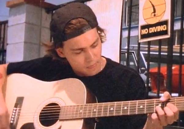 Depp appears in the music video 'Into The Great Wide Open.'