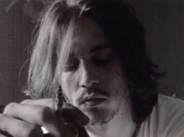 Depp appears in the music video 'It's A Shame...