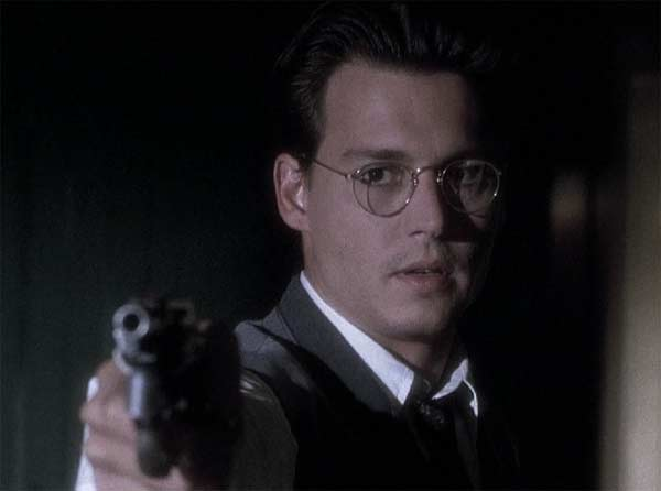 Actor Johnny Depp appears in a scene from the 1995 film &#39;Nick of Time,&#39; where he plays an accountant who is forced to deal with unfortunate and unusual ultimatums. <span class=meta>(Paramount Pictures)</span>