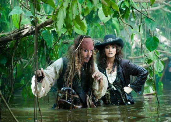 Actor Johnny Depp and Penelope Cruz appear in a scene from the 2011 film 'Pirates of the Caribbean: On Stranger Tides.'