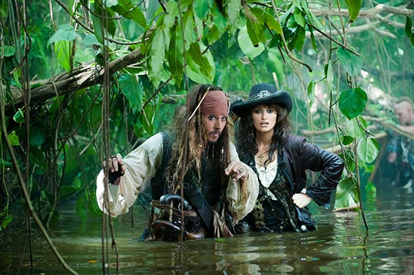 Johnny Depp appears as Captain Jack Sparrow, with Penelope Cruz as Angelica, in a scene from the 2011 movie &#39;Pirates of the Caribbean: On Stranger Tides &#39; - the fourth film in the series. <span class=meta>(Walt Disney Pictures &#47;  Jerry Bruckheimer Films)</span>