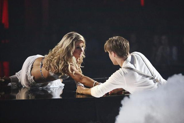 "<div class=""meta ""><span class=""caption-text "">Olympic gymnast Shawn Johnson and her partner Derek Hough received 27 out of 30 points from the judges for their Rumba on 'Dancing With The Stars: All-Stars,' which aired on October 23, 2012. (ABC Photo)</span></div>"