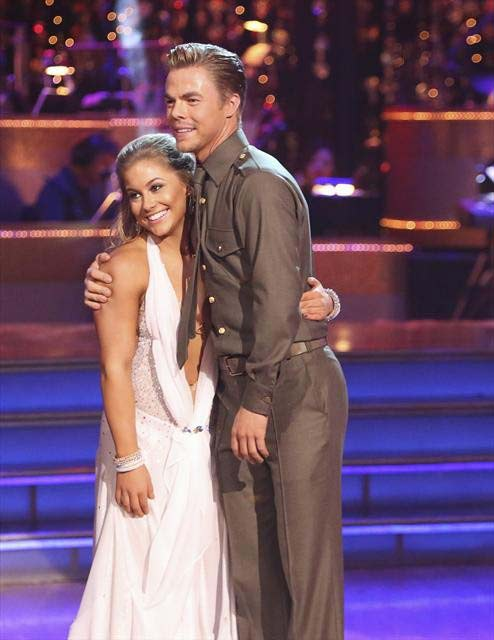 Olympic gymnast Shawn Johnson and her partner Derek Hough received 29.5 out of 30 points from the judges for their Viennese Waltz  on &#39;Dancing With The Stars: All-Stars,&#39; which aired on November 12, 2012. <span class=meta>(ABC &#47; OTRC)</span>