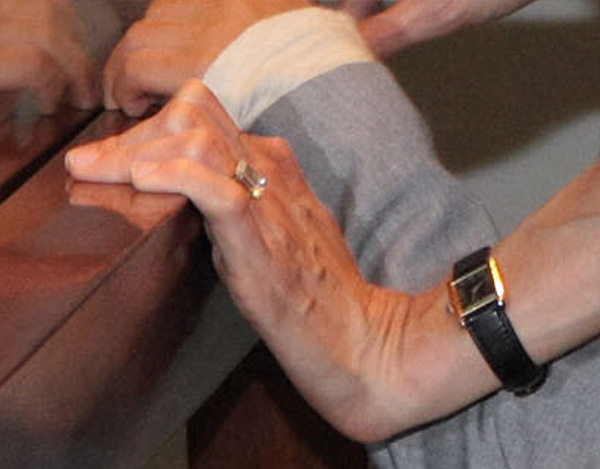 A close-up of Angelina Jolie&#39;s engagement ring, which she wore to a LACMA event on Wednesday, April 11, 2012. <span class=meta>(The Los Angeles County Museum of Art &#40;LACMA&#41;)</span>