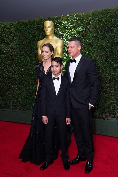 "<div class=""meta image-caption""><div class=""origin-logo origin-image ""><span></span></div><span class=""caption-text"">Jean Hersholt Humanitarian Award recipient Angelina Jolie appears with partner Brad Pitt and son Maddox at the 2013 Governors Awards at The Ray Dolby Ballroom at Hollywood and Highland Center in Hollywood, California on Saturday, Nov. 16, 2013. She gave an emotional speech honoring her late mother. (Matt Petit / A.M.P.A.S.)</span></div>"