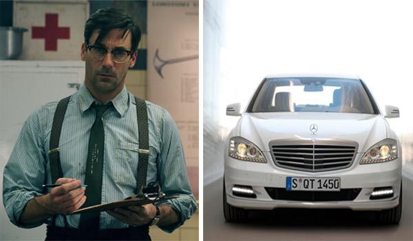 Golden Globe winning actor Jon Hamm from the AMC show &#39;Mad Men&#39; was the voice behind Mercedes-Benz commercials in 2010. Hamm&#39;s first commercial featured the S400 Hybrid.  <span class=meta>(Warner Bros. Entertainment ? Clay Enos&#47;Mercedes-Benz)</span>
