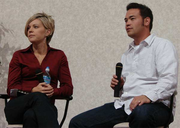 Jon and ex-wife Kate Gosselin appear in an...