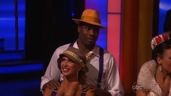 "<div class=""meta image-caption""><div class=""origin-logo origin-image ""><span></span></div><span class=""caption-text"">NFL star Jacoby Jones and his partner Karina Smirnoff prepare to dance on week 2 of 'Dancing With The Stars,' which aired on March 25, 2013. (ABC Photo / Adam Taylor)</span></div>"